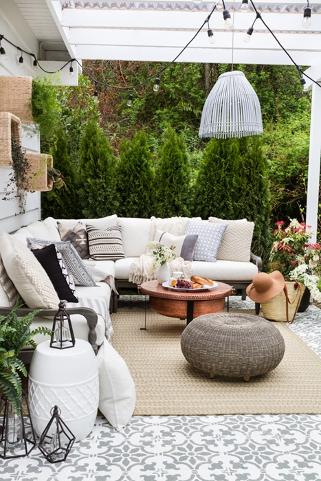 Outdoor Patio with Furniture by Zevy Joy