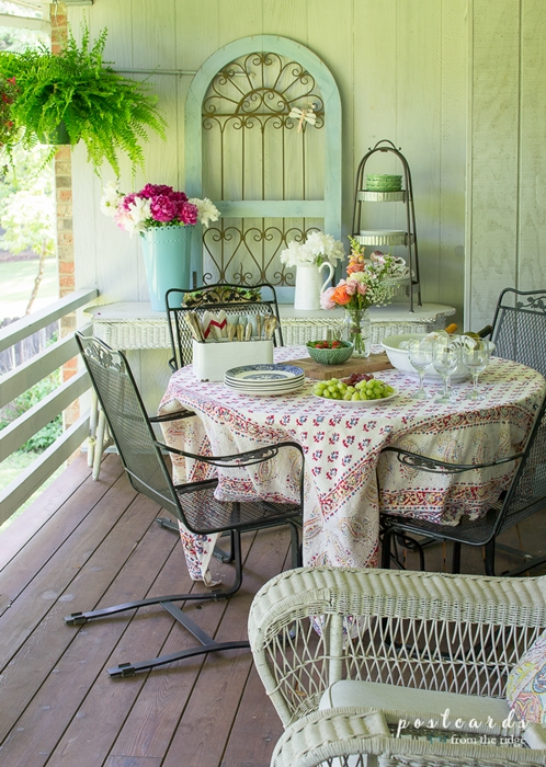 Shabby Chic Porch by Postcards from the Ridge