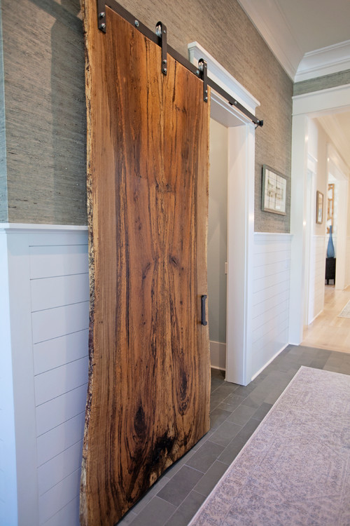 Sliding Hallway Barn Door Made with Reclaimed Wood