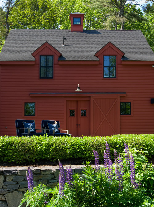 Painted Red Outbuilding in Portland, Maine