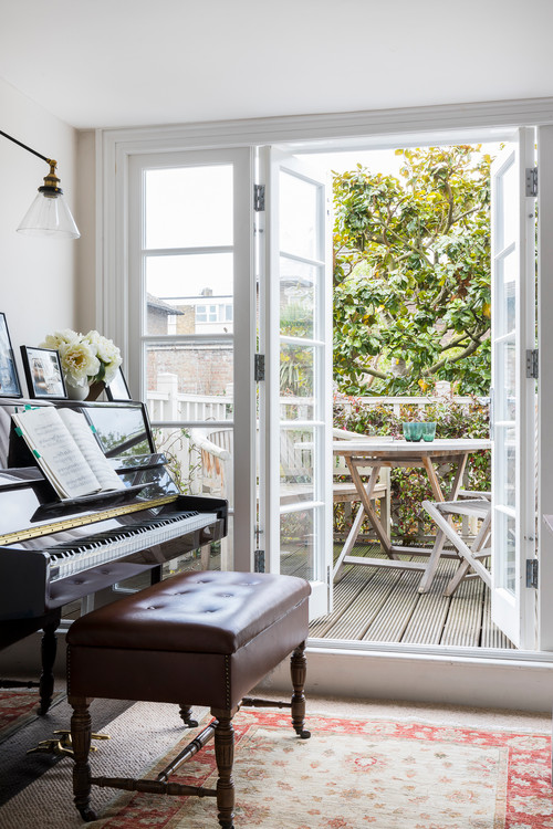 Piano Room with Outdoor Deck