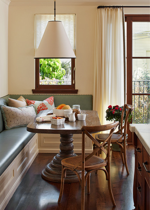 Traditional Dining Nook with Banquette