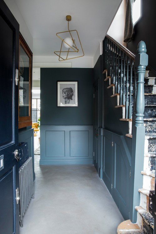 Old and Charming Painted Staircase in Front Hall