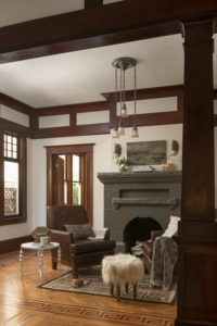 Light and Dark Decor in Craftsman Home