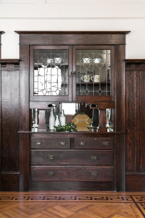 Built-In China Cabinet in Craftsman Home