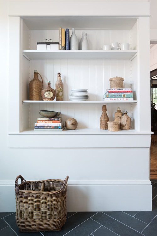 Styled Built-In Bookcase