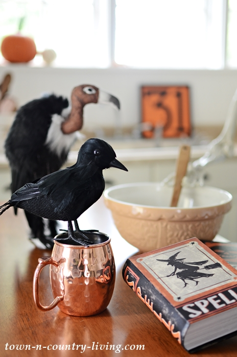 Halloween Vignette of Crows and Vultures