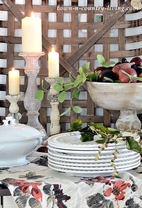 Wooden Candlesticks for Fall Dining and Entertaining