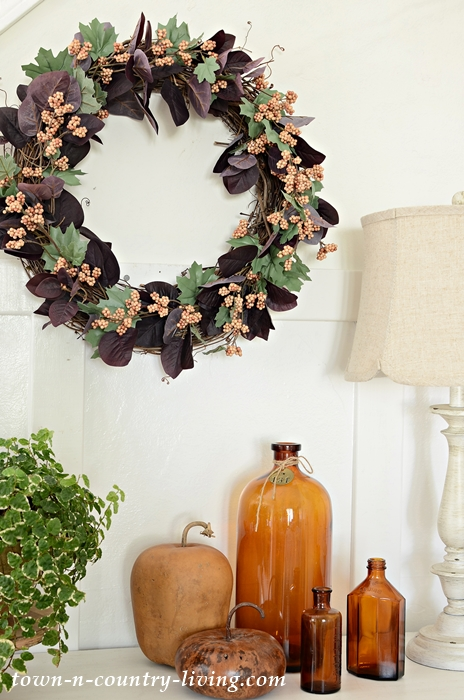How to Make a Fall Berries Grapevine Wreath