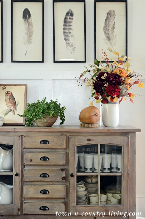 Country Style Fall Home Tour with Faux Flowers