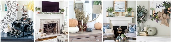 Fall Mantels in Seasonal Simplicity