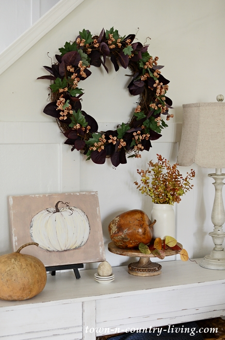 Autumn Vignettes in Country Style Fall Home Tour