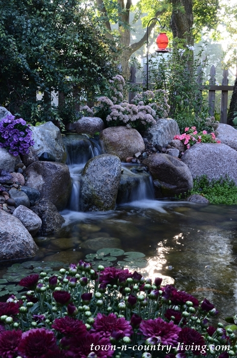 Backyard Garden Pond and Waterfall