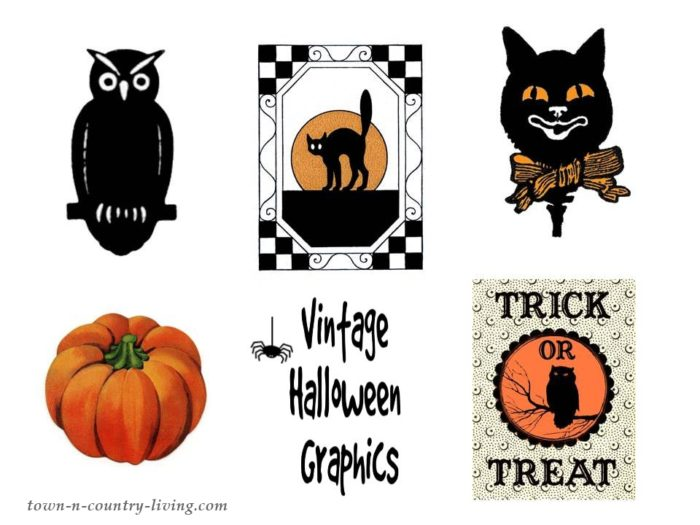 photo about Vintage Halloween Printable named Traditional Halloween Handle Baggage: Free of charge Printable - City