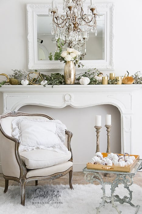Elegant Fall Mantel by Shabbyfufu