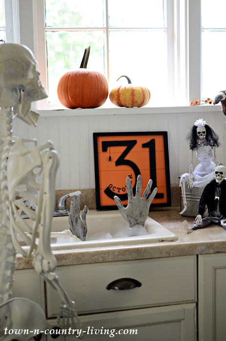 Skeleton Sightings in My Halloween Kitchen