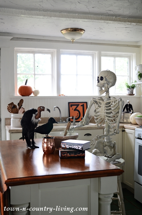 Halloween Skeleton Cooking Poison in the Kitchen