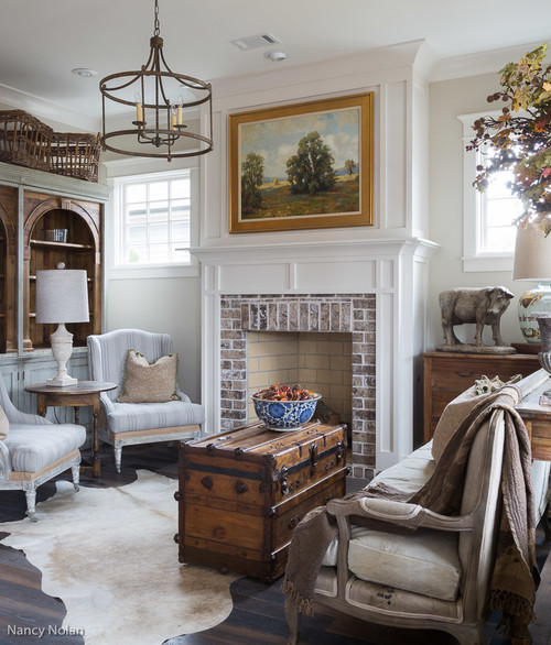 My Favorite Country Style Living Room in Neutral Tones