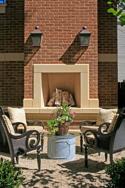 Outdoor Fireplace with Conversation Seating