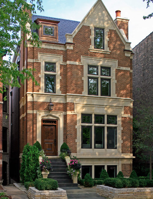 Chicago City Living in a Brick and Limestone Home