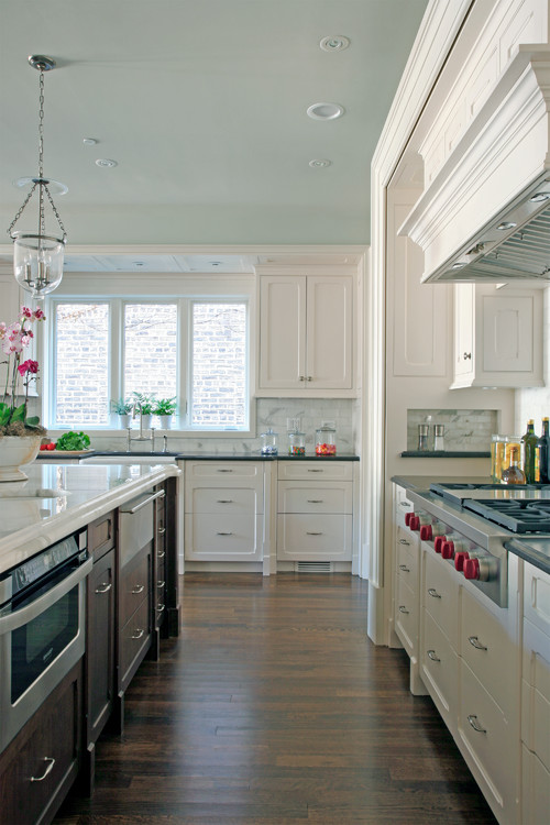 Beautiful White Kitchen in Chicago City Southport Corridor Neighborhood