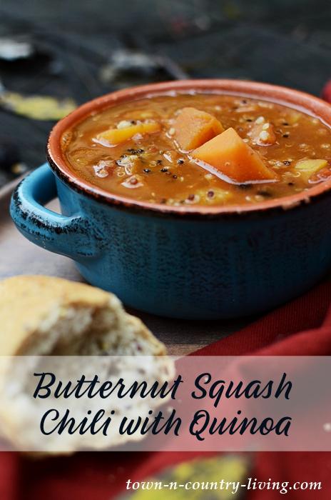 Healthy Butternut Squash Chili with Quinoa