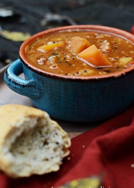 Butternut Squash and Quinoa Chili for Vegetarians
