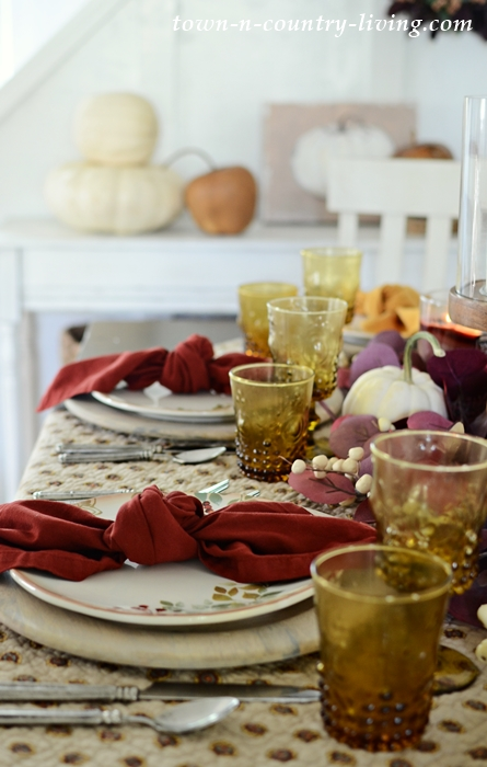 Thanksgiving Table Setting in Warm Colors