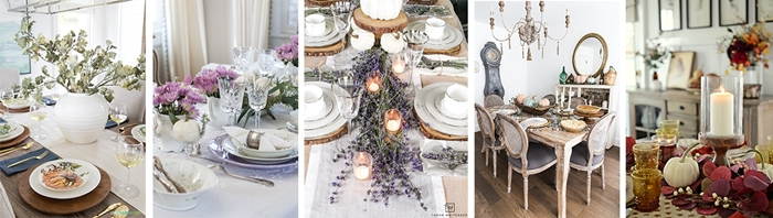 Styled and Set Fall Table Settings