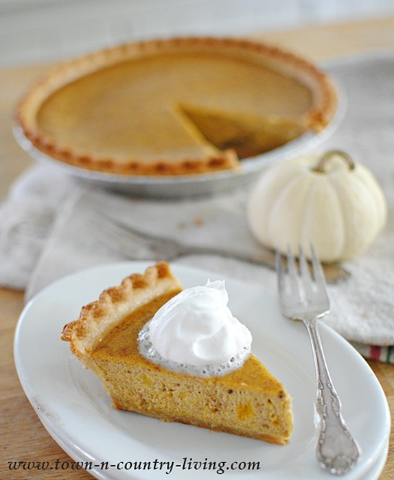 Classic Pumpkin Pie from Town and Country Living