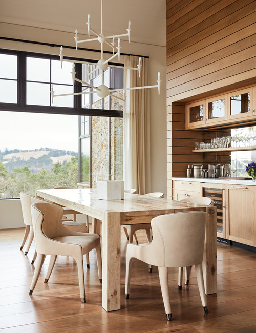 Scandinavian Style Dining Room in Mountain Home
