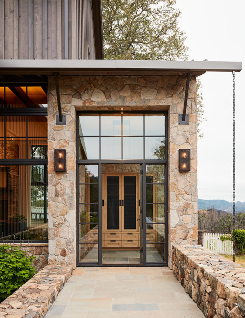 Stone and Wood Exterior on Perfect Mountain Home