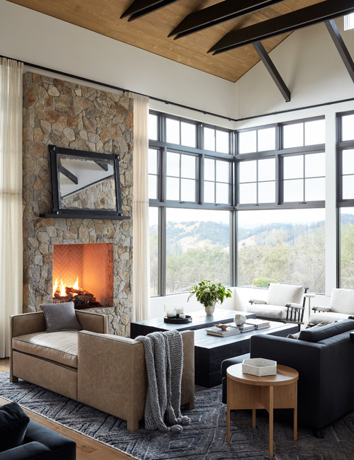 Perfect mountain home with views and great blend of textures