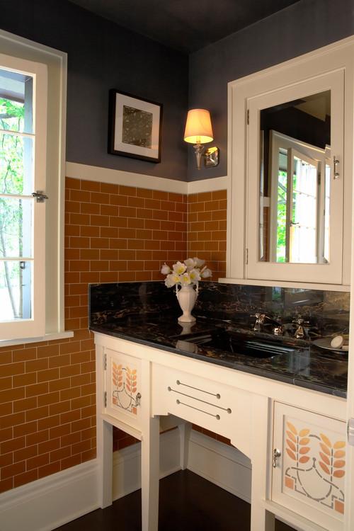 Powder Room in Craftsman Home