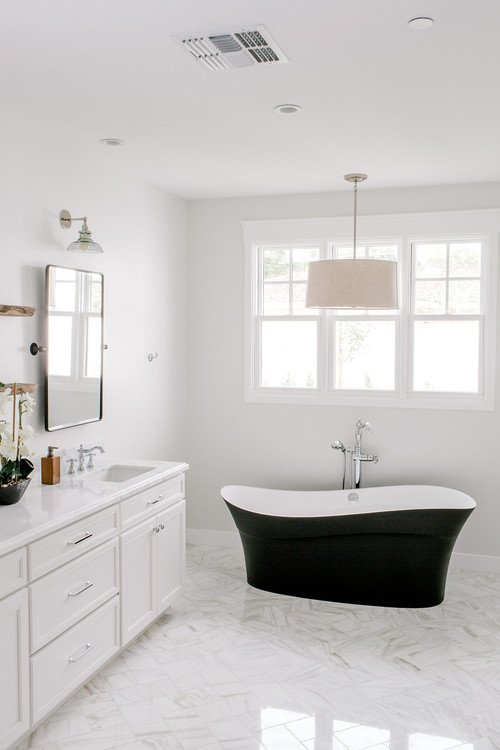 Minimalist Approach to Farmhouse Bathroom