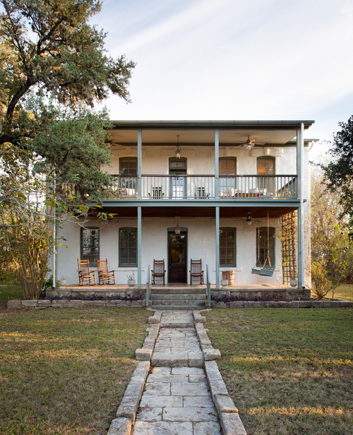LBJ's Mother's House with Two-Story Porch