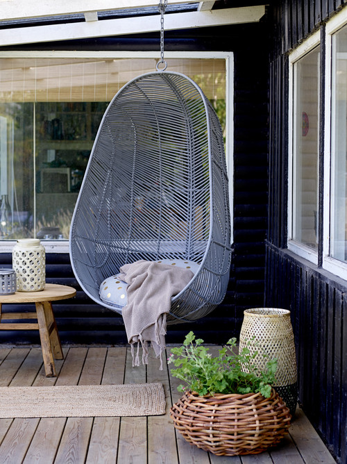 Hanging Chair on Outdoor Deck
