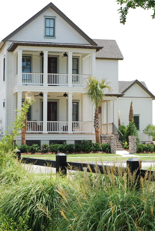 New White Southern Home with Double Decker Porch