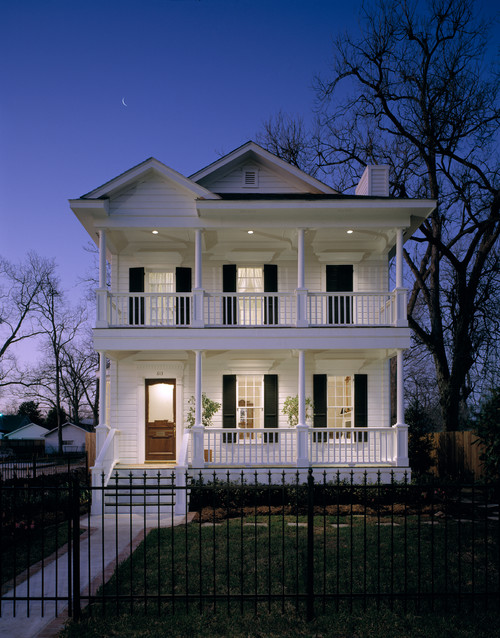 Nighttime Curb Appeal with Porch Lights
