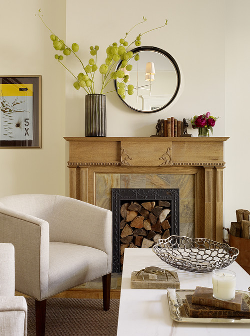 Modern Country Fireplace
