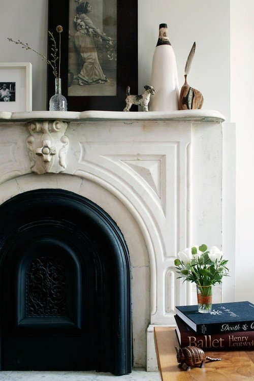 Victorian Soap Stone Fireplace