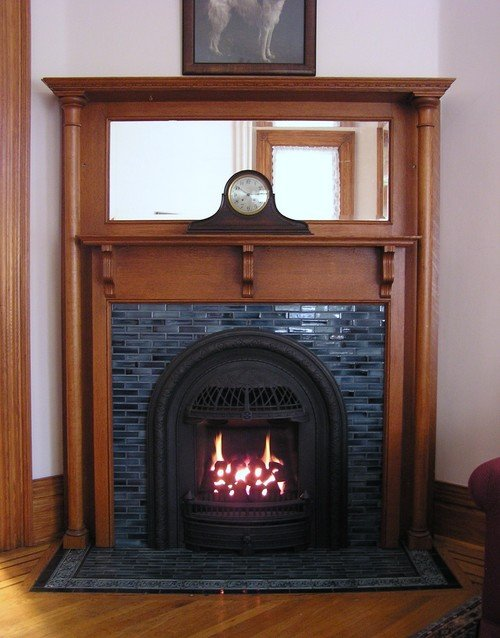 Vintage Victorian Fireplace