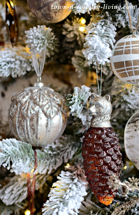 Bronze and Neutral Ornaments for Christmas