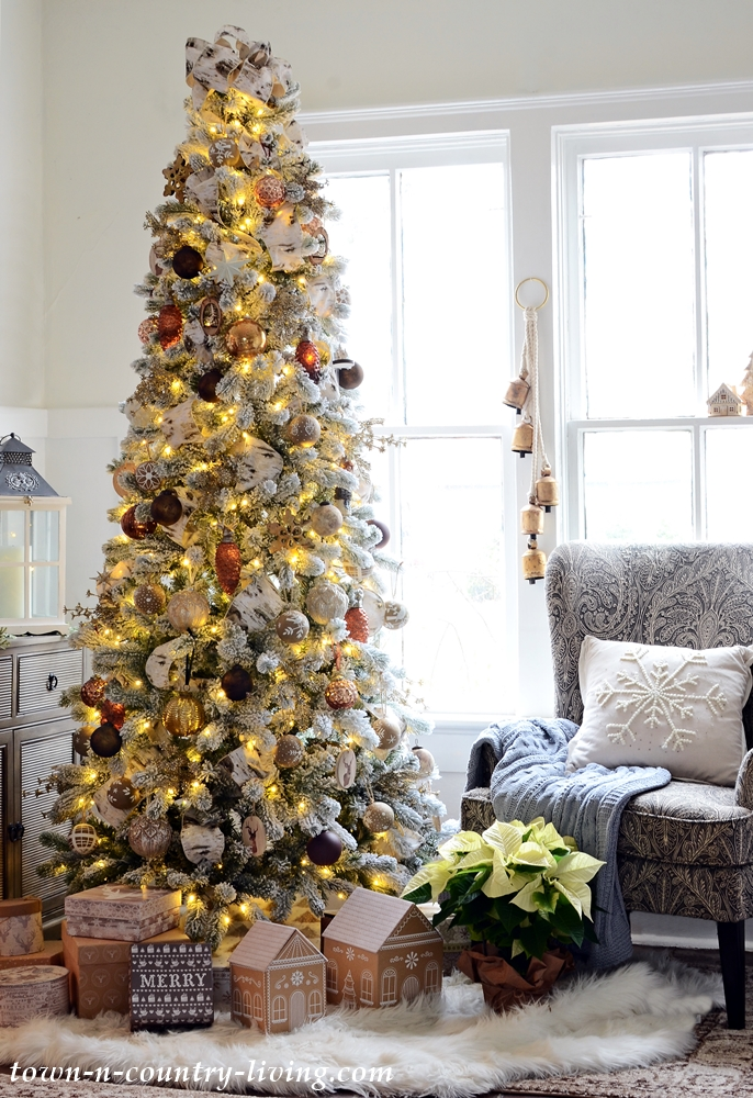Christmas Home Tour - Bronze and Neutral Christmas Tree