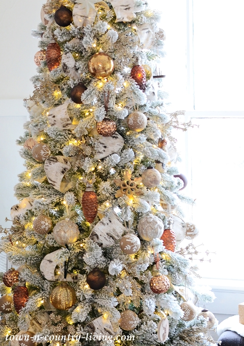 Bronze and Neutral Christmas Tree at Town and Country Living