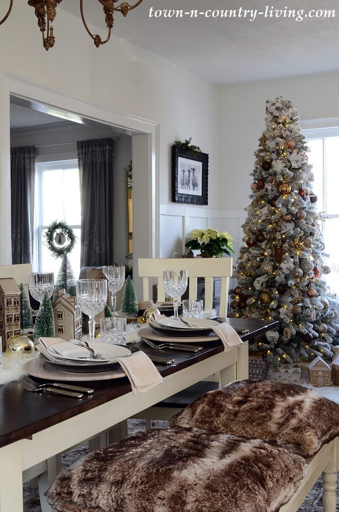 Modern Country Style Christmas Table Setting