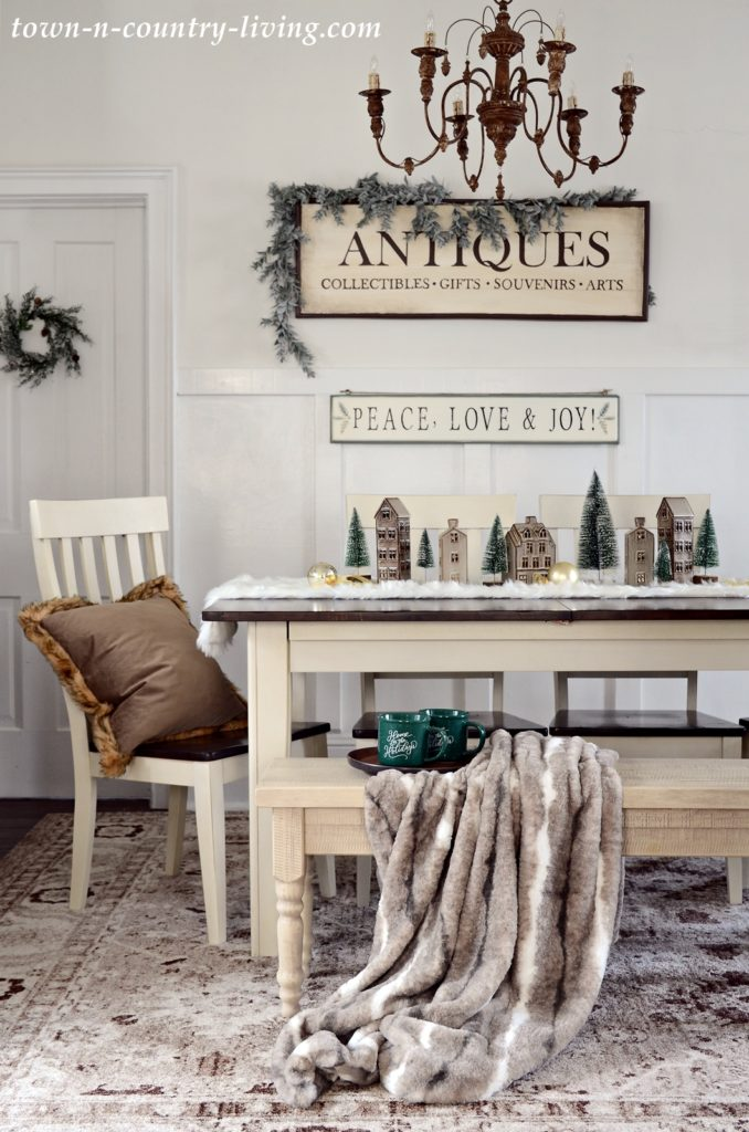 Christmas Home Tour - Neutral Dining Room