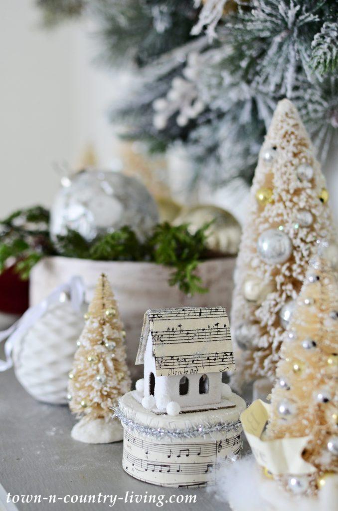 Vintage Christmas Bottle Brush Trees