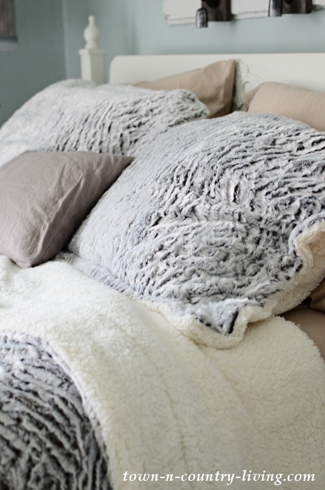 Sherpa and Chenille Bedding