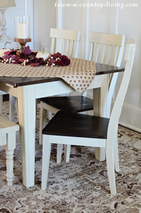New Dining Rugs in Farmhouse Dining Room